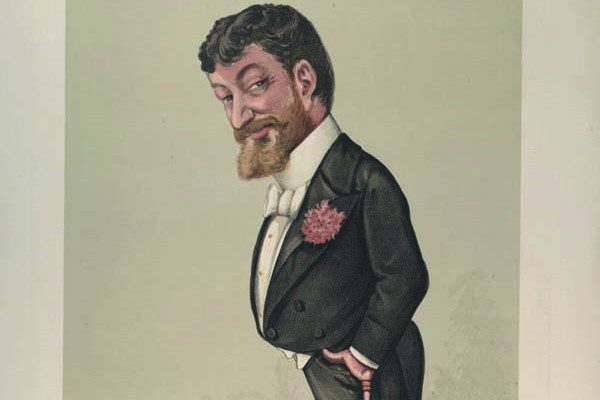 Francesco Paolo Tosti in un'illustrazione di Vanity Fair